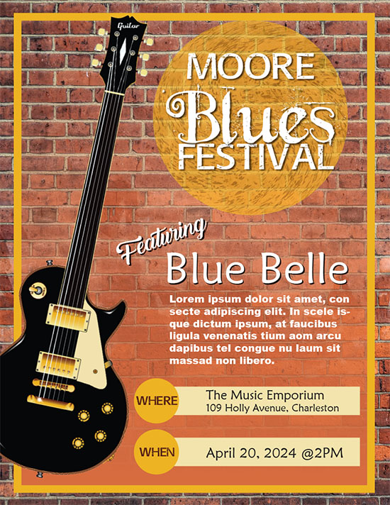 blues festival flyer